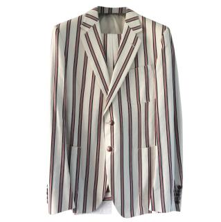 Gucci limited edition single breasted signature stripe suit