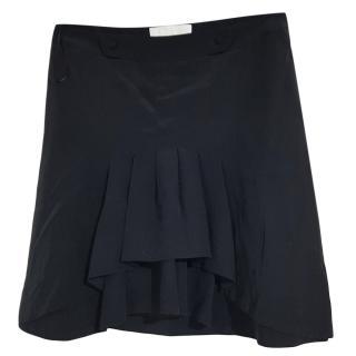 Chloe black pleated silk skirt