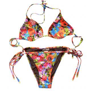 Dolce & Gabbana floral field print string bikini