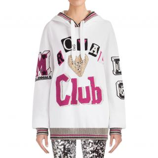 Dolce & Gabbana  White Royals Club cotton sweatshirt.