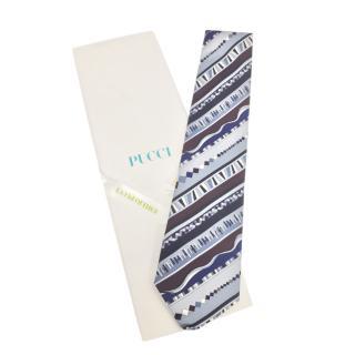 Emilio Pucci retro print tie