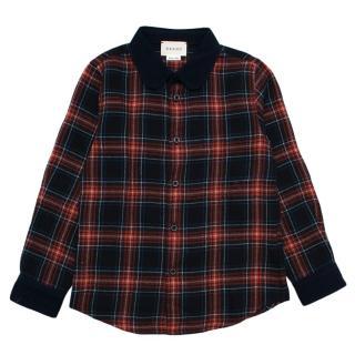 Gucci Kids Wool Blend Plaid Shirt