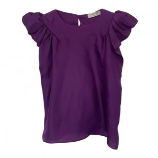 Saint Laurent Vintage Purple Top