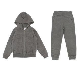 BonPoint Grey Cotton Tracksuit