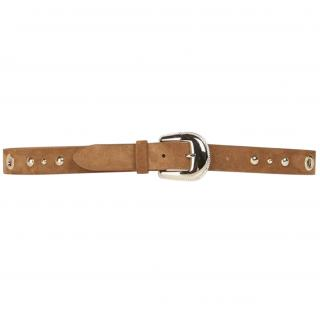 Gerard Darel Suede Tan Eyelet Studded Belt