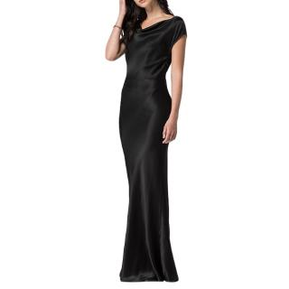 Limited Edition Tommy Hilfiger Draped Satin Black Gown
