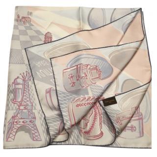 Louis Vuitton Chessboard Print Silk Scarf