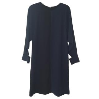 Fendi long sleeved silk blend dress