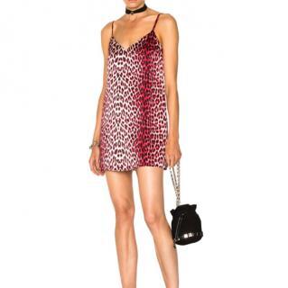 Adaptation Red Leopard Print Mini Dress