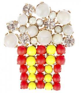 Bijoux De Famille Neon Crystal Embellished Brooch