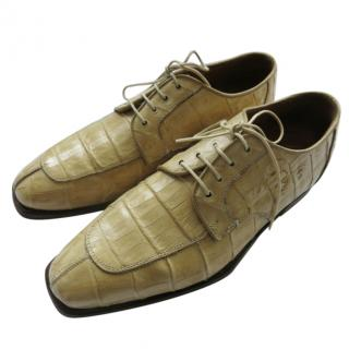Belvedere Crocodile Leather Lace-Up Shoes