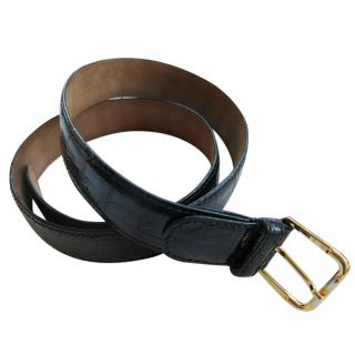 Bruno hand made black crocodile men's belt
