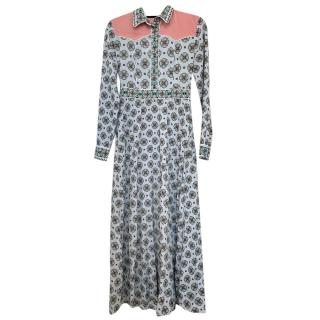 Sandro printed midi shirt dress