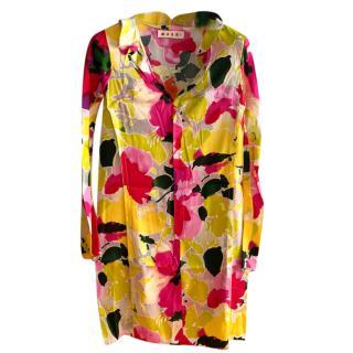 Marni floral print shirt tunic dress