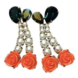 Bijoux de Famille Crystal Cherry earrings
