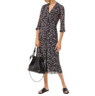 Michael Michael Kors Floral Print Georgette Shirt Dress