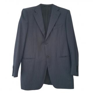 Canali Men's Blue Virgin Wool Single Breasted Suit