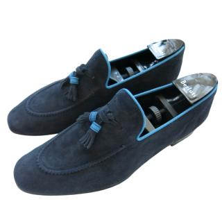 Barrett Navy Suede Moccassin Loafers