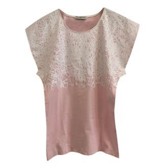 Balenciaga Pink & White Printed Top