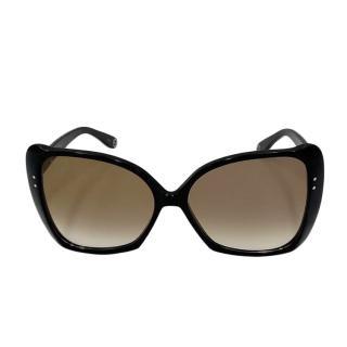 Gucci Black Oversize Butterfly Sunglasses
