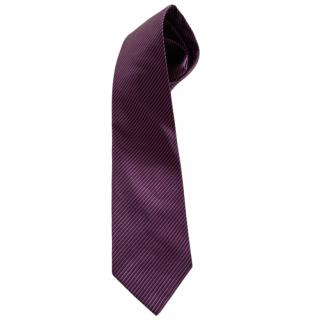Salvatore Ferragamo Purple Silk Tie