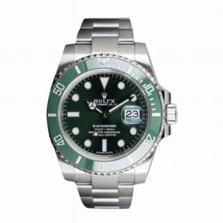 Rolex Unworn Hulk Submariner Date Gents Stainless Steel Green Dial