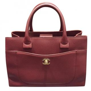 Chanel Burgundy Leather Cerf Tote