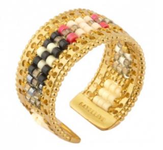 Satellite Paris Amazon Gold Tone Ring
