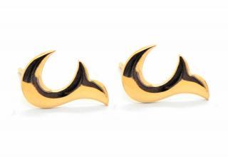 Babette Wasserman Gold Plated Stud Earrings