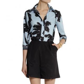 Moschino Cheap and Chic palm tree-print cotton-poplin shirt