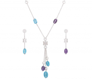 Bvlgari Jewellery Set in White Gold with Gemstones