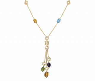 Bvlgari Chain Necklace W/ Gemstones