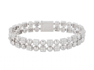 bvlgari White Gold & Diamond Bracelet