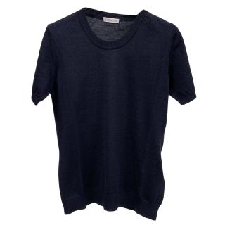 Moncler Navy Fine Cotton Tshirt