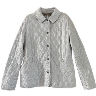 Burberry White Diamond Quilted Jacket