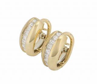 Cartier Yellow Gold Diamond Earrings