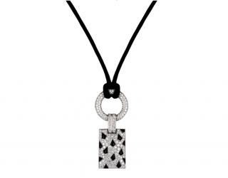 Cartier Diamond Set Necklace with Black Onyx