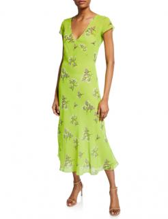 BERNADETTE Zoe floral-print chiffon midi dress
