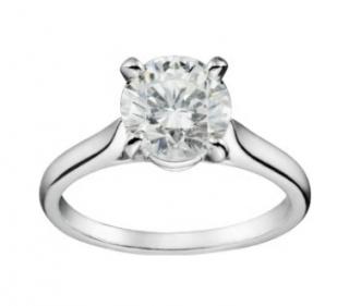 Cartier Brilliant Diamond Platinum Set Ring