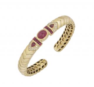 David Morris Yellow Gold Open Bracelet