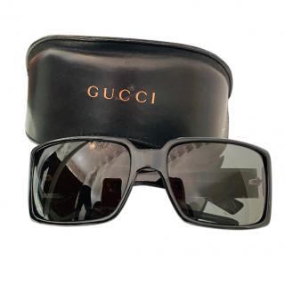 Gucci Web Detail Square Sunglasses