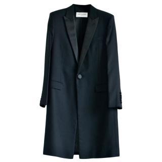 Saint Laurent runway black wool coat