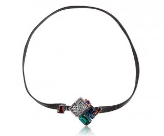 Vicki Sarge Jewelled Leather Wrap Bracelet