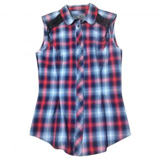 McQ by Alexander McQueen Plaid Sleeveless Top