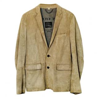 Burberry Men's Beige Lambskin Jacket