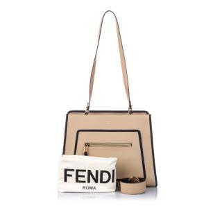 Fendi Leather Runaway Shopper