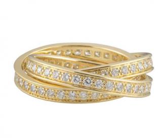 Cartier Yellow Gold Trinity Diamond Ring