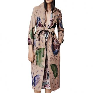 Burberry Prorsum Painted Nubuck Suede Trench Coat