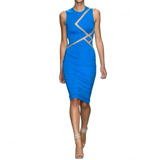 David Koma stretch crepe cut out dress