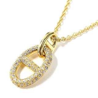 Hermes 18K Yellow Gold Chaine dAncre Pendant Necklace